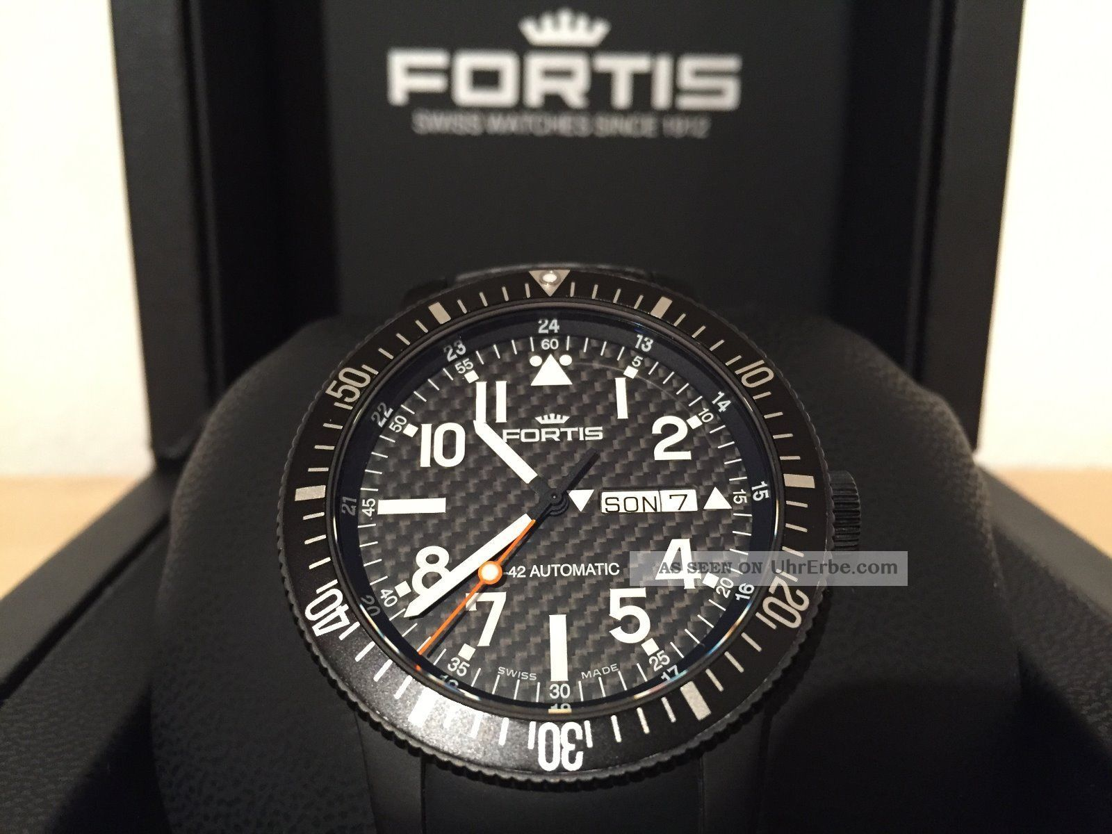 Fortis B - 42 Black Automatic Titan Pvd Cosmonauts 647.  28.  71 Top Armbanduhren Bild