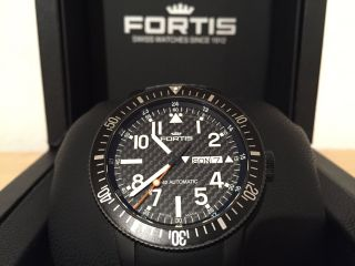 Fortis B - 42 Black Automatic Titan Pvd Cosmonauts 647.  28.  71 Top Bild