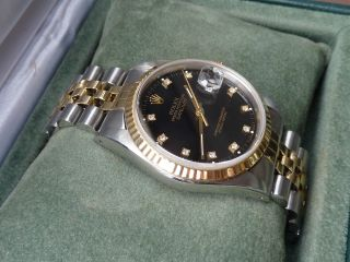 Rolex Date Just 16233 Safirglas Originales Brillantblatt Datejust 36mm Bild