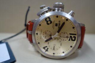 U - Boat Classico Automatic Chrono Uhr Silber GehÄuse 48mm Limitiert 44/150 Bild