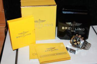 Breitling Windrider Chronomat Evolution B13356 Stahl / Gold Mit Papieren Und Ovp Bild