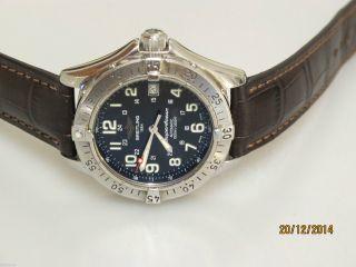 Breitling Ocean Chronograph Automatik Uhr In Stahl 42mm Uhrmachermeister Bild