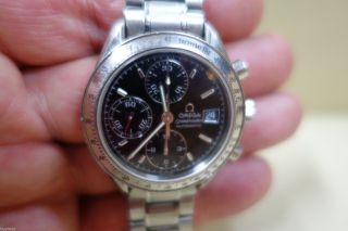 Top Omega Speedmaster Chronograph Automatic Uhr In Stahl D.  39mm Bild