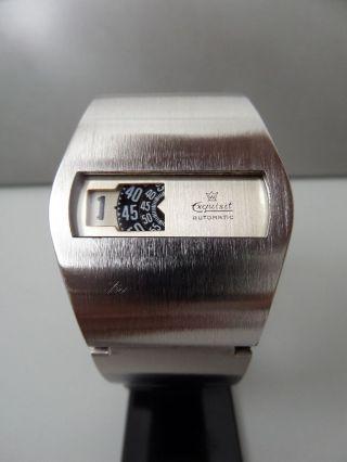 Exquisit Digital Handaufzug Alte Armbanduhr Old Mens Wrist Watch Vintage 60s 70s Bild