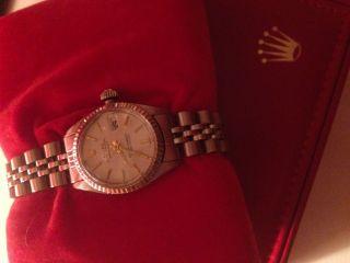 Rolex Lady Datejust Weissgold /stahl Automatik Damenuhr Vintage 6917 Vp: 6000,  - Bild