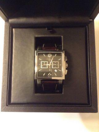 Hamilton Uhr Jazzmaster Automatik Chronograph Rechteckig H32666535 Lederarmband Bild