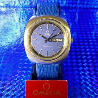 LÄssig 70èr Vintage Besonderheit Omega Seamaster Day Date Herrenuhr Bild