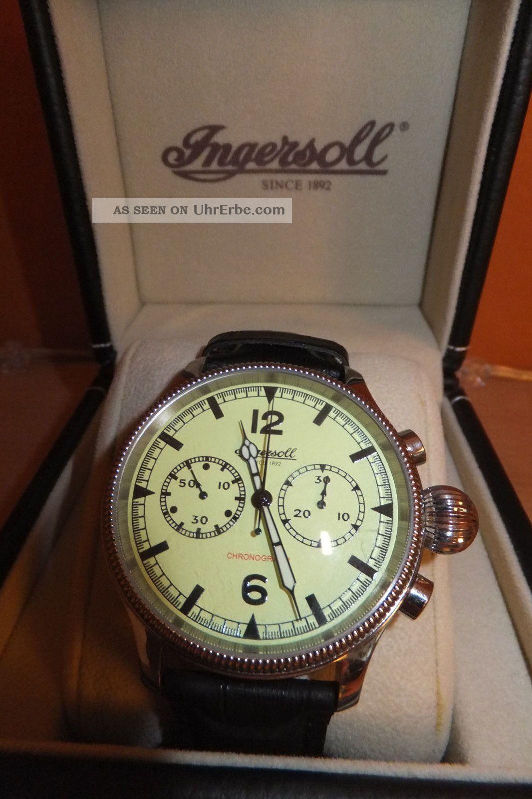 Ingersoll Wells Fargo Chronograph Ref.  In 4600 Gr Limited Edition Armbanduhren Bild