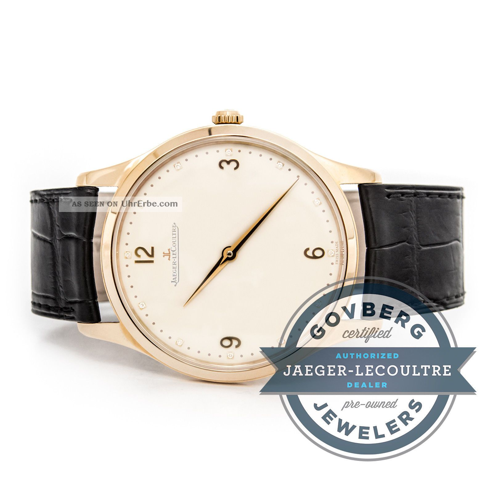 Jaeger - Lecoultre Master Grand Ultra Dünn 18kt Rose Gold Automatische Watch Armbanduhren Bild