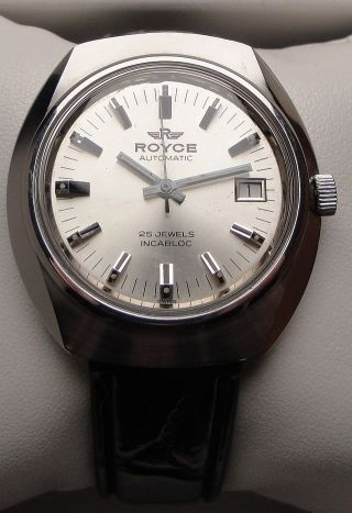 Vintage Armbanduhr Automatic Royce Of Switzerland - In Edelstahl – Cal.  As 2063 Bild