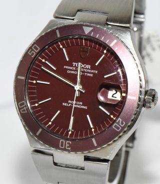 Tudor Prince Oysterdate Chrono - Time Stahl Uhr Ref.  9121 Box Automatik Bild