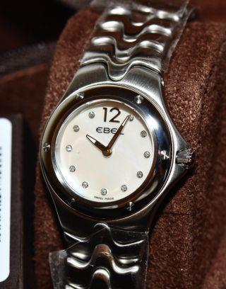 Ebel Sportwave Stahl Perlmutt Uhr 1215042 Uvp 1750€ Ungetragen Bild