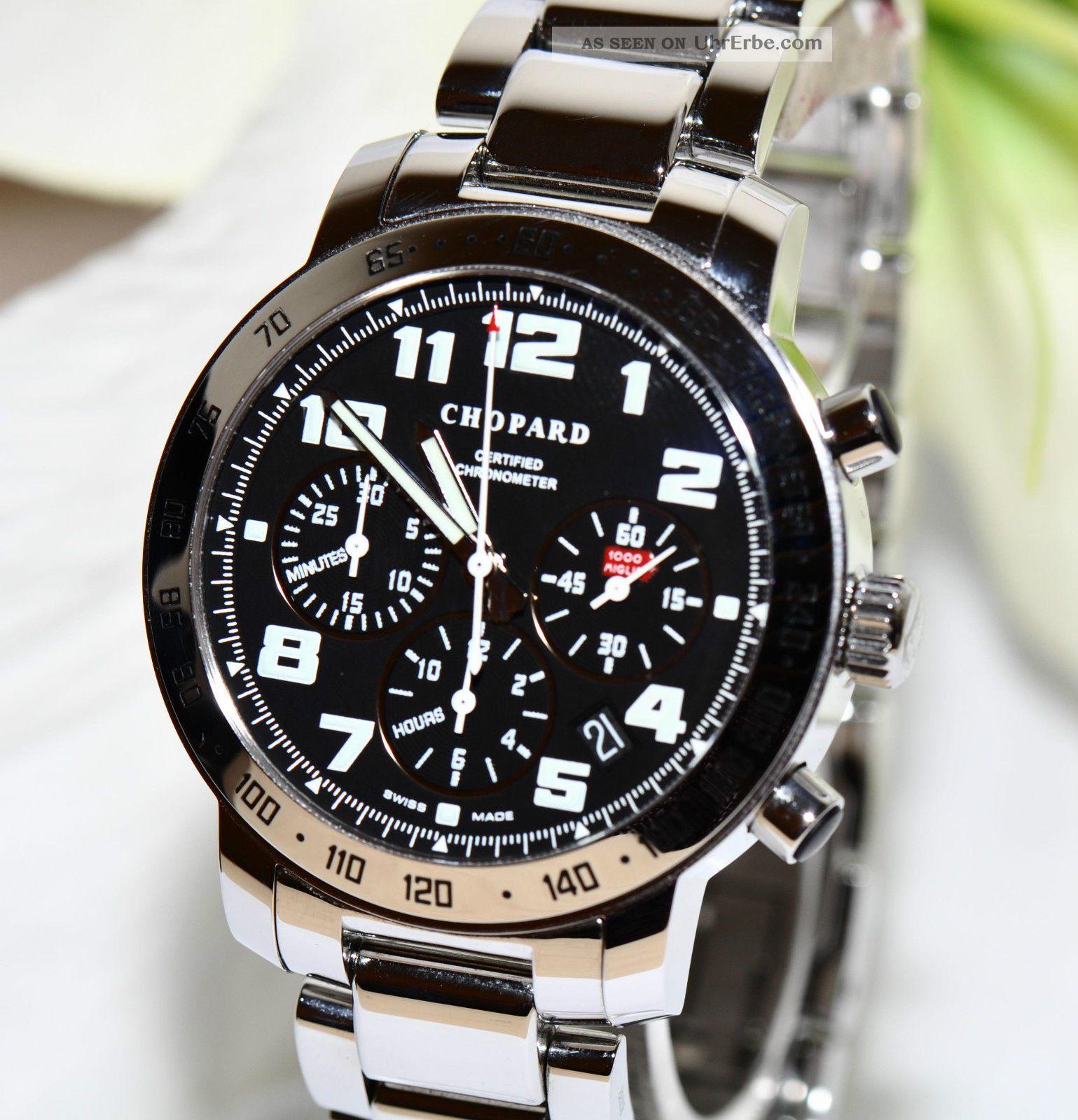 Chopard Mille Miglia Chronograph 8920 Stahl Papiere Box 2012 Armbanduhren Bild