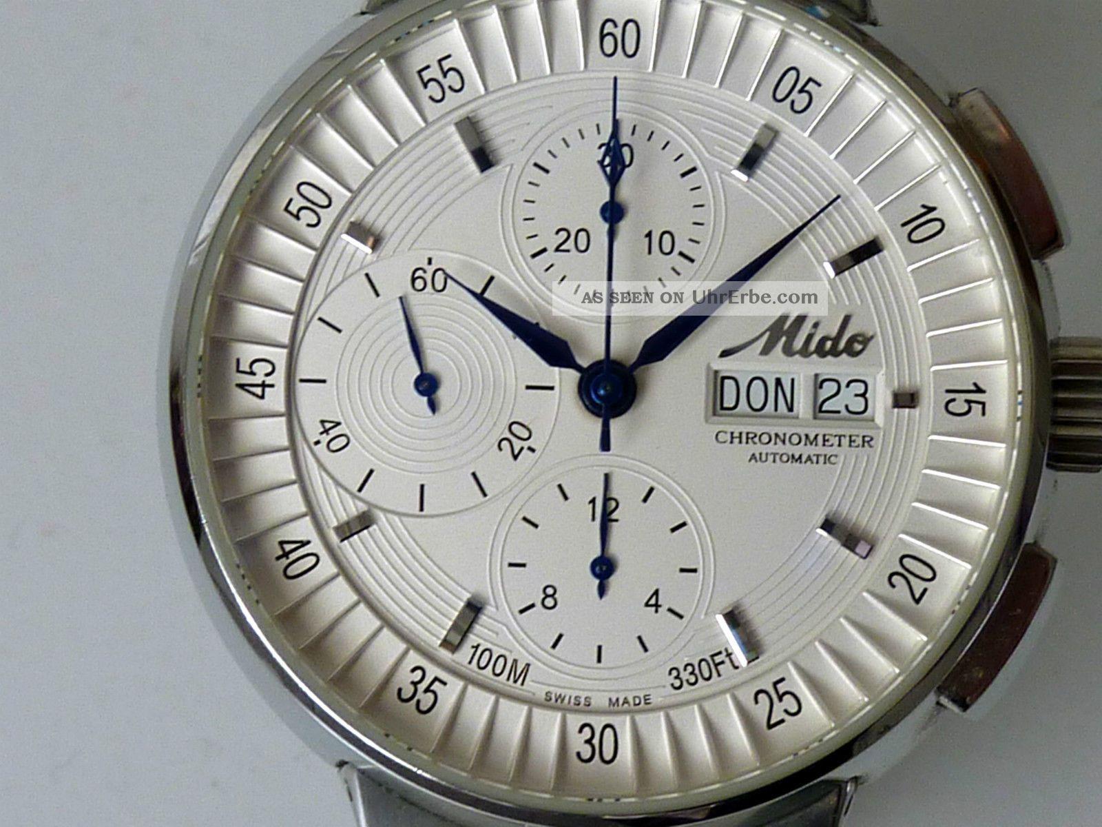 Mido All Dial Chronograph EinzelstÜck Sonderanfertigung Chronometer Mit Papiere Armbanduhren Bild