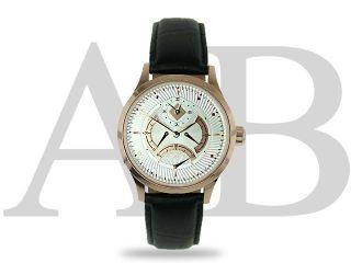 André Belfort Seconde Volante Roségold Weiß Automatik Luxus Uhr M.  Papieren Bild