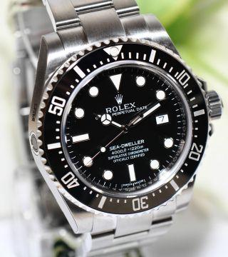 Rolex Sea - Dweller 4000 Keramik Stahl Uhr Ref.  116600 Papiere Box Bild