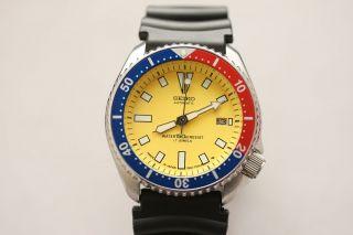 Seiko Automatic 7002 - 7000 Scuba Diver 150m Pepsi Lünette Aus Sammlung Bild