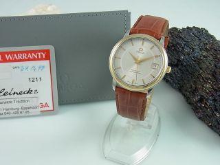 Omega De Ville Presstige Chronometer Automatik Stahl / Gold Zertifikat Herrenuhr Bild