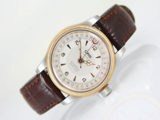Oris Pointer Big Crown 17jewels U.  Aktuel.  Jubilee Metallband Glasboden Automatik Bild