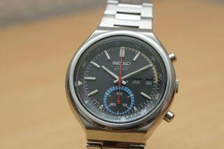 Seiko Automatic Chronograph 6139 - 7060 Vintage Uhr Day/date Bild