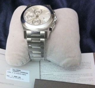 Gucci Pantheon Xl Automatik Chronograph Edelstahl Herren - Armbanduhr Ya115206 Bild