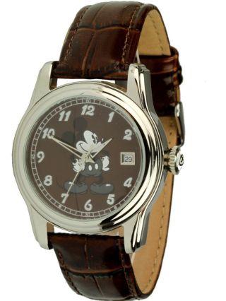 Disney Uhren Braune Automatikuhr Mit Mickey Mouse Motiv,  Ovp, Bild
