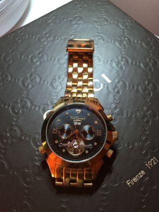 Yves Camani Luxus Automatic Herrenuhr Vergoldet Bild