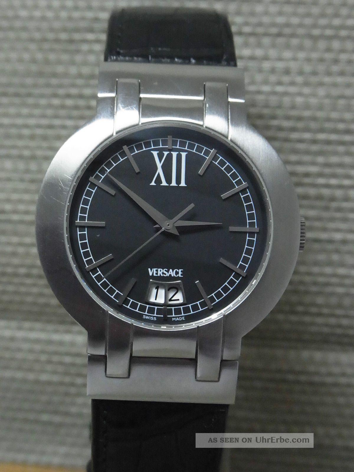 Versace Madison Big Date Automatik - Uhr (eta) - 42mm - Unisex Armbanduhren Bild