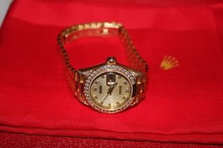 Rolex Damen Datejust Automatik In 18k Gold Diamanten Rolex Bild