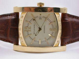 Org.  Bulgari Assioma Uhr Massiv Gold 750 Automatik Riesengroßes Schweres Modell Bild