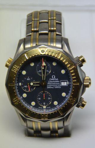 Omega Seamaster Professional Titan/gold Chronograph Herrenuhr Luxusuhr Bild