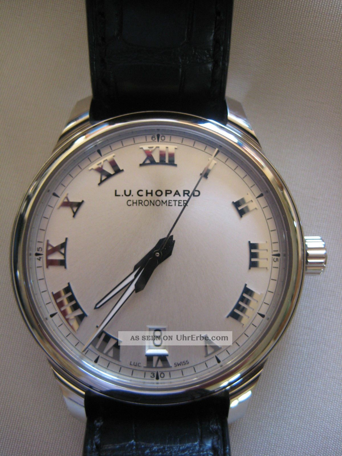 Chopard L.  U.  C 1937 Classic Edelstahl Chronometer - - Armbanduhren Bild