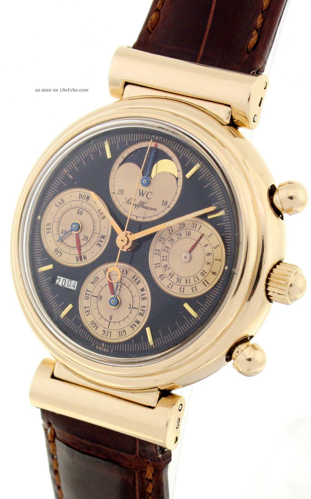 Iwc Da Vinci Limited Edition 120 StÜck Ref 3750 - Rotgold - Ewiger Kalender Armbanduhren Bild