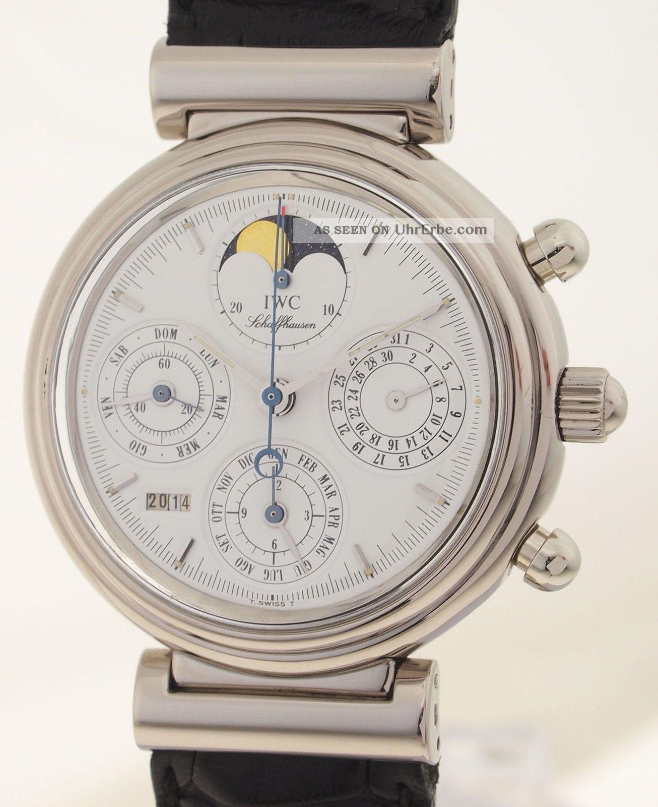 Iwc Da Vinci Ewiger Kalender - 18ct Weissgold - Erste Serie Nr.  150 - Sammleruhr Armbanduhren Bild