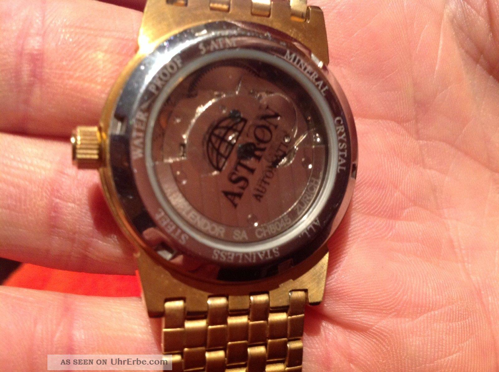 Astron, Armbanduhr Automatik, Vergoldet, Herren