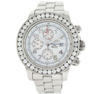 Automatik Uhr Männer Breitling Avenger A13370 5.  50 Ct Diamant Bild