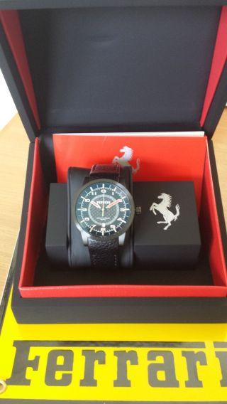Scuderia Ferrari Automatic - Uhr Granturismo Chrono Schwarz Ovp Uvp 924,  - Bild