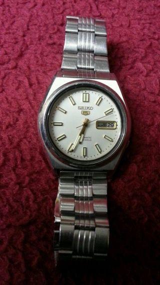 Seiko 5 Herrenuhr Armbanduhr Automatik 17 Jewels 716084 Bild