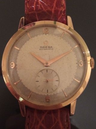 Vintage Omega Automatic 18k Solid Gold Ref.  2889 Two Tone Dial Cal.  491 Sub - Second Bild