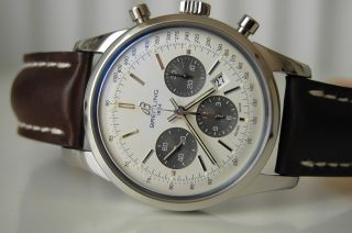 Breitling Transocean Chronograph Manufakturkaliber B01 Stahl,  Gar.  Uvp6550€ Bild