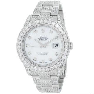 Armbanduhr Herren Rolex Datejust Ii 116300 Diamant Edelstahl Automatisch Bild