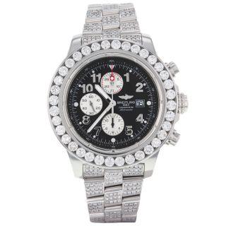 Breitling Avenger A13370/benutzerdefinierte Diamanten Automatik Herren Uhr Bild