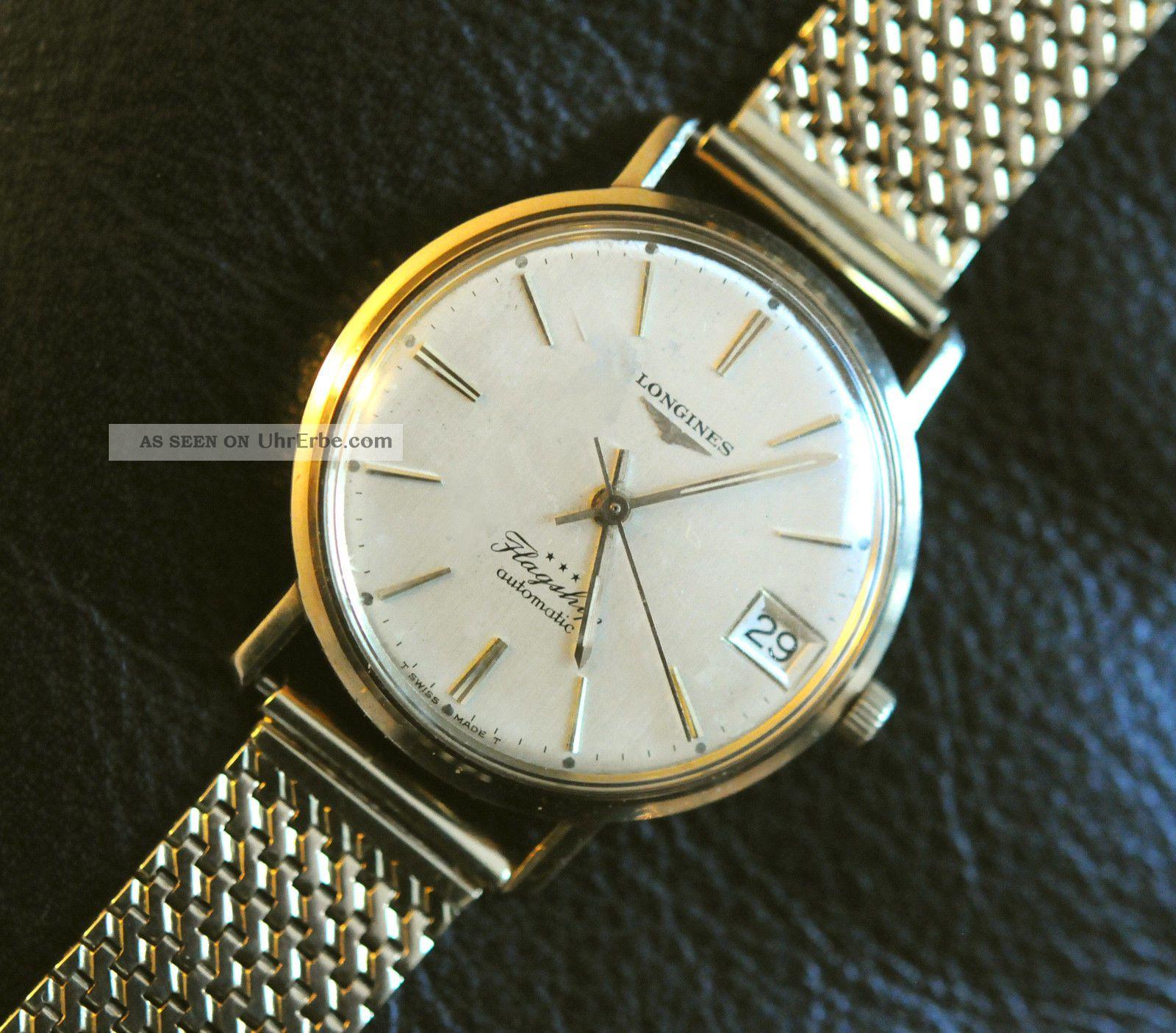 Longines Flagship Gold Mit Goldenem Armband 14k – Generalüberholt Armbanduhren Bild
