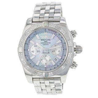 Breitling Chronomat B01 Ab0110 Diamant Stahl Automatic Herrenuhr Bild
