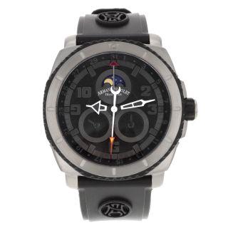 Armbanduhr Herren Armand Nicolet Schwarz T612a - Gr - G961 Titan Automatik Bild