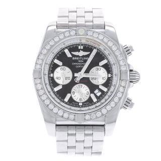 Armbanduhr Herren Breitling Chronomat Vintage 14k R Diamant Einfassung Edelst Bild
