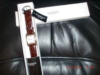 Madison Newyork Armbanduhr Ovp Quarz Herren Uhr Giftbox Gents Watch Bild