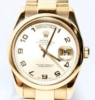 Rolex Day Date 2004 18kt Gold Ref.  118208 Papiere Lc 100 Bild