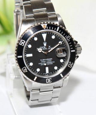 Rolex Submariner Stahl Uhr Ref.  16800 Von 1980 Sammlerstück Bild