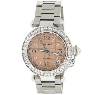 Automatik Uhr Cartier Pasha 35mm C Diamond Mittelgroß Bild